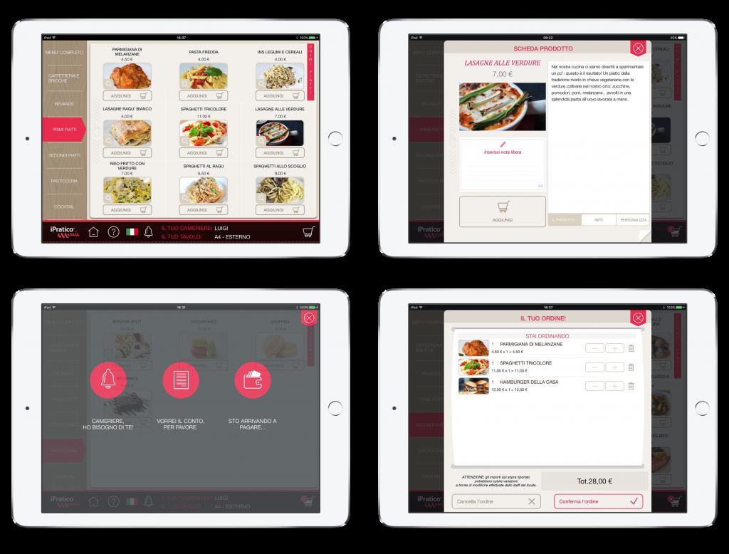 menu digitale per ristoranti