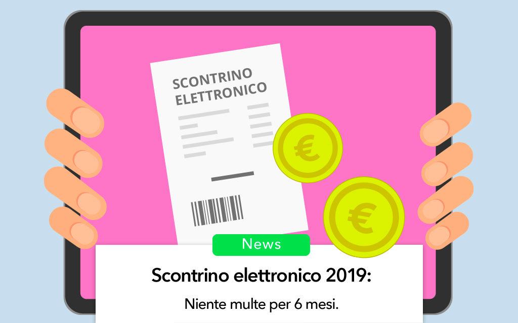 Scontrino elettronico 2019, multe sospese per 6 mesi