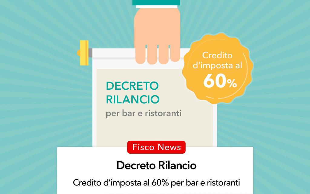 Decreto Rilancio 2020, credito d'imposta per l'adeguamento di bar e ristoranti
